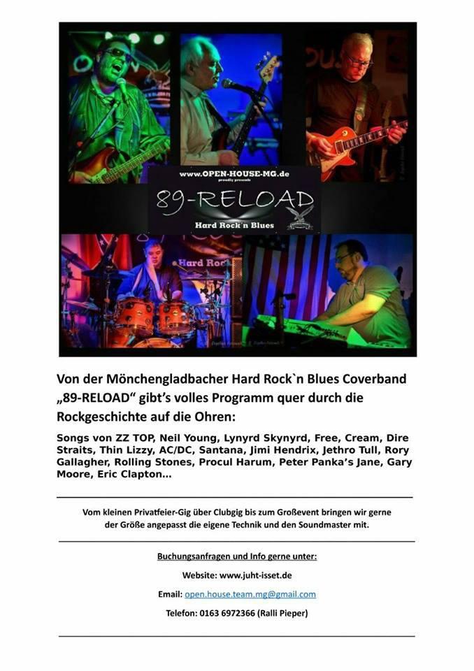 89-RELOAD , die Hard Rock`n Blues Band aus Mönchengladbach